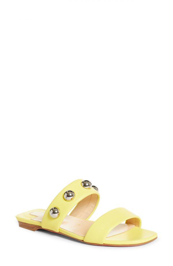Women's Christian Louboutin Simple Bille Slide Sandal, Size 7.5US - Yellow