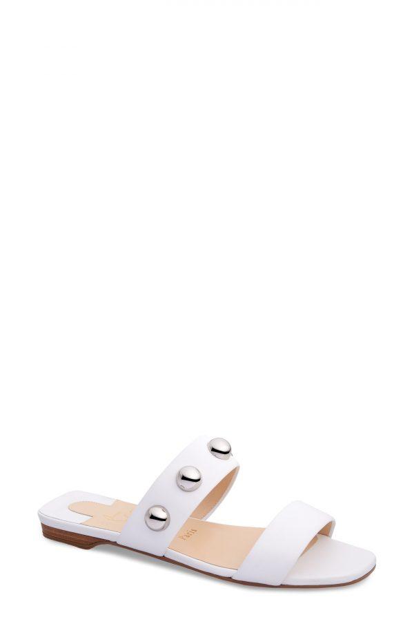 Women's Christian Louboutin Simple Bille Slide Sandal, Size 9.5US - White