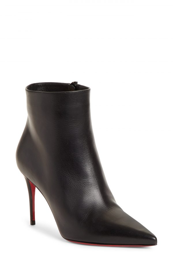 Women's Christian Louboutin So Kate Pointed Toe Bootie, Size 5US - Black