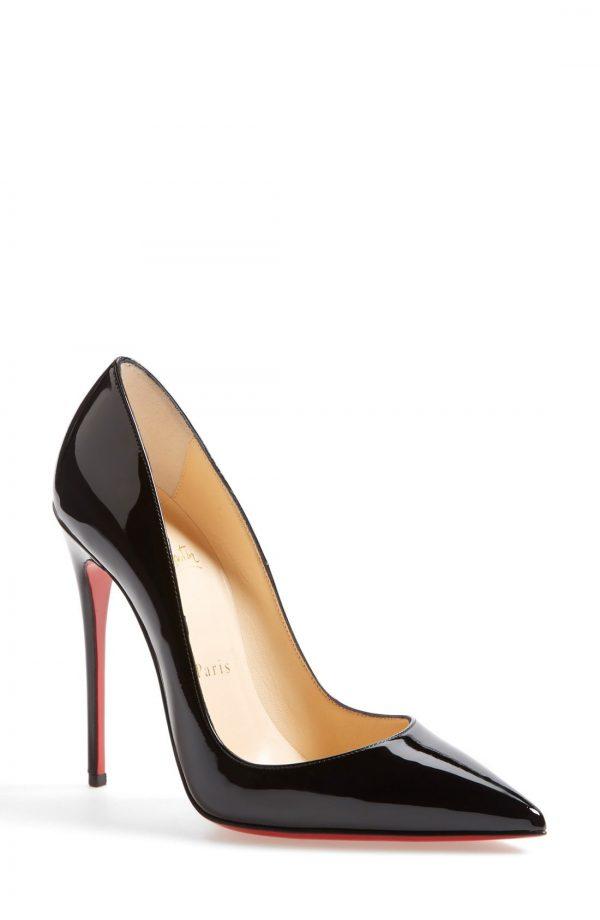 Women's Christian Louboutin So Kate Pointed Toe Pump, Size 5.5US - Black
