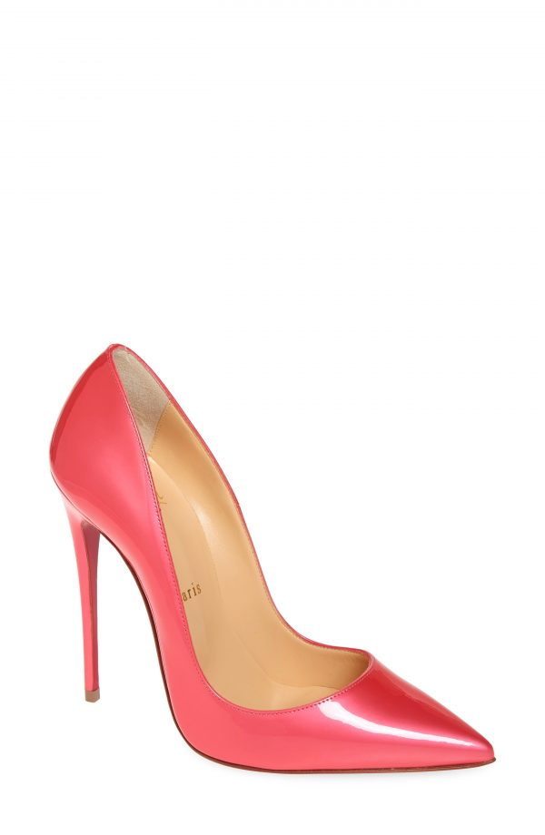 Women's Christian Louboutin So Kate Pointy Toe Pump, Size 5.5US - Pink
