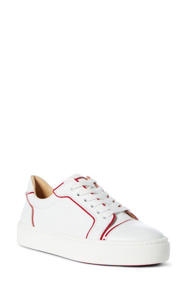 Women's Christian Louboutin Vieirissima Low Top Sneaker, Size 11US - White