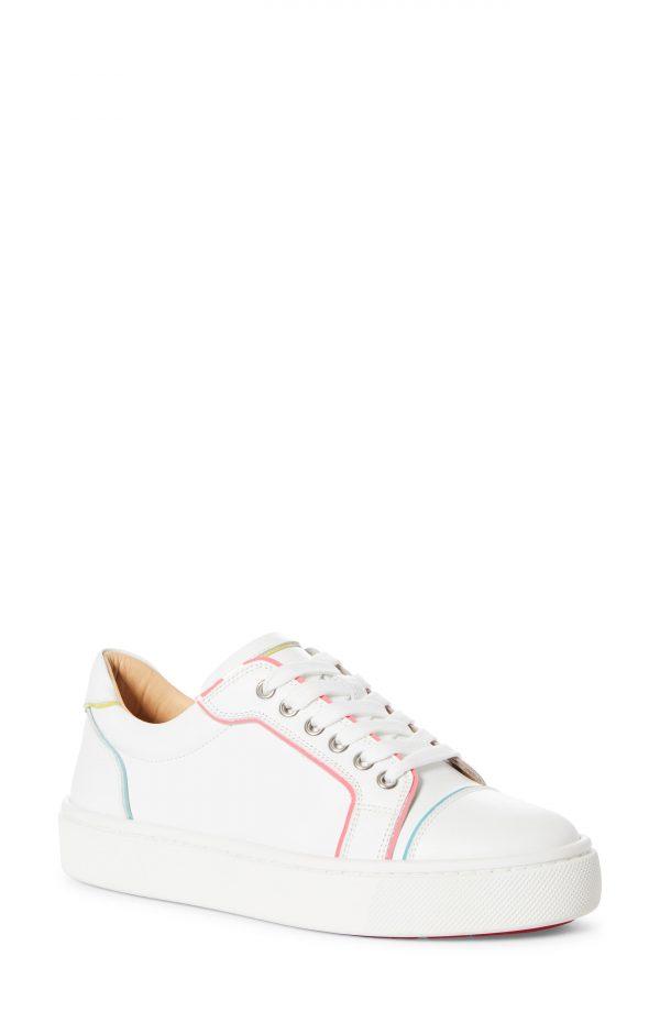 Women's Christian Louboutin Vieirissima Low Top Sneaker, Size 6US - White
