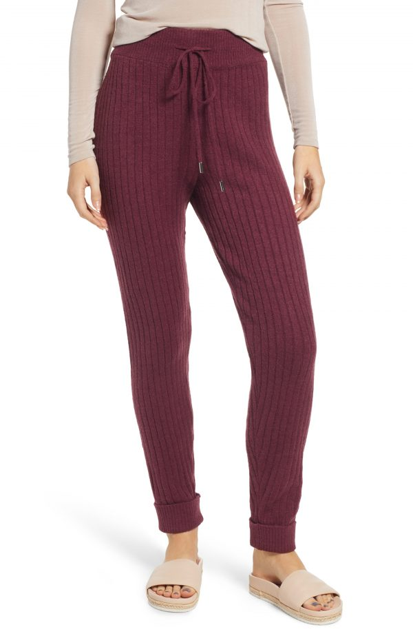 Women's Free People Around The Clock Joggers, Size X-Small - Burgundy
