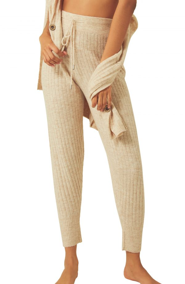 Women's Free People Around The Clock Joggers, Size X-Small - Ivory