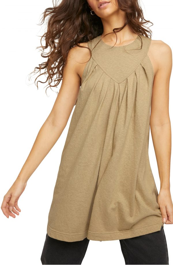 Women's Free People Beat The Heat Cotton Tunic Dress, Size X-Small - Beige