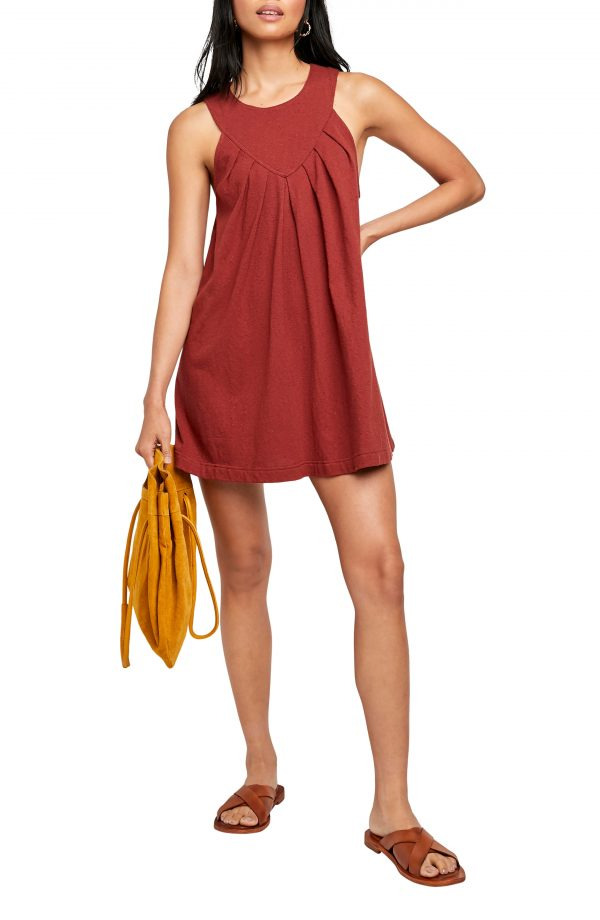 Women's Free People Beat The Heat Cotton Tunic Dress, Size X-Small - Brown