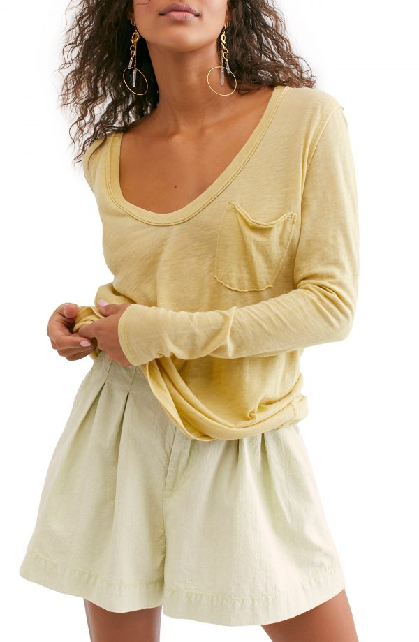 Women's Free People Betty Long Sleeve Top, Size Small - Green