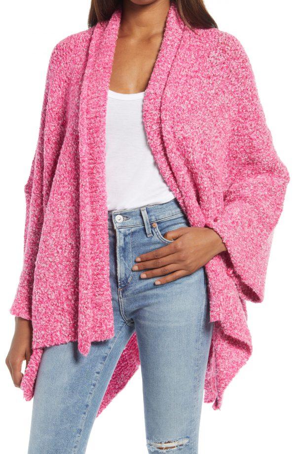 Women's Free People Bff Cardigan, Size X-Small - Pink