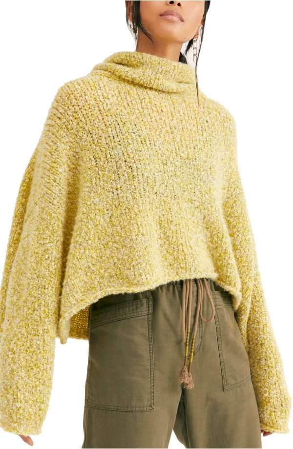 Women's Free People Bff Cowl Neck Sweater, Size X-Small - Yellow