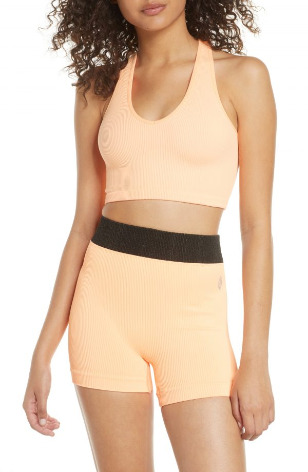 Women's Free People Fp Movement Free Throw Crop Tank, Size X-Small - Orange
