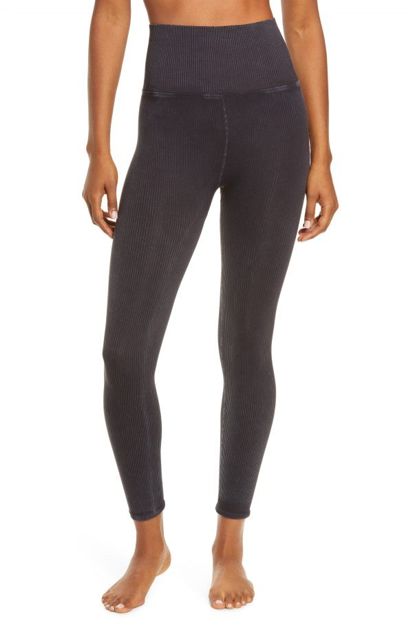 Women's Free People Fp Movement Happiness Runs Leggings, Size Medium/Large - Black