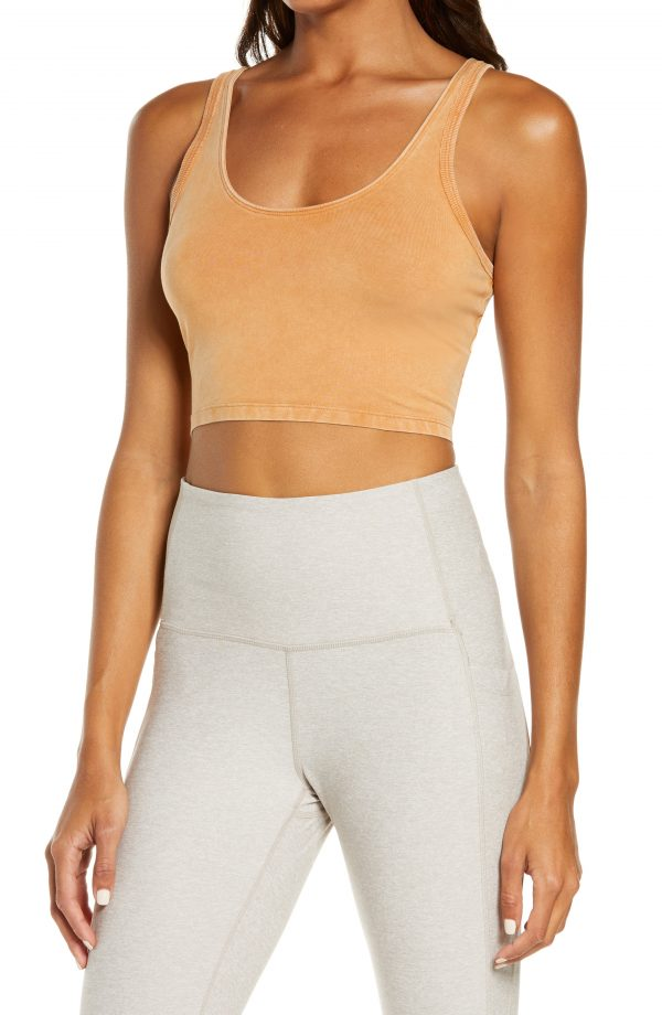 Women's Free People Fp Movement Hot Shot Crop Cami, Size X-Small - Brown