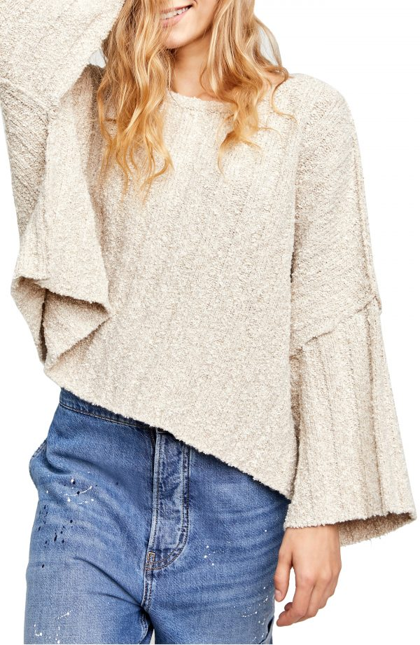 Women's Free People Good Day Pullover, Size X-Small - Beige