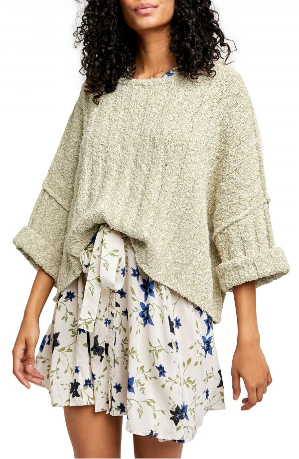 Women's Free People Good Day Pullover, Size X-Small - Green