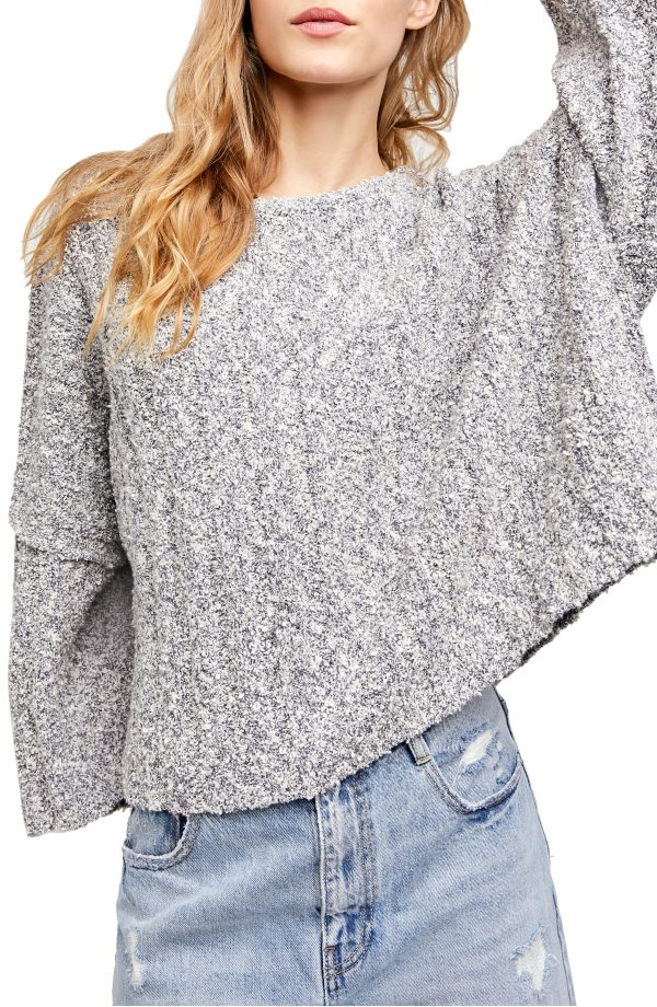 Women's Free People Good Day Pullover, Size X-Small - Grey