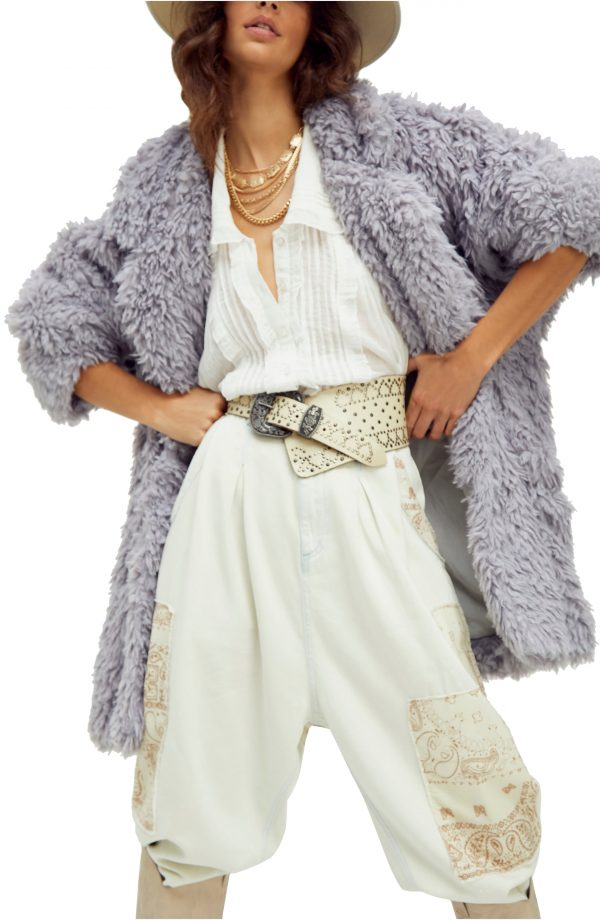 Women's Free People Honeypie Teddy Jacket, Size X-Small - Purple