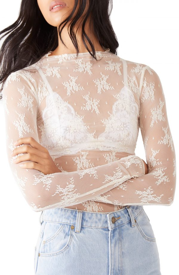 Women's Free People Lady Lux Layering Top, Size X-Small - Ivory