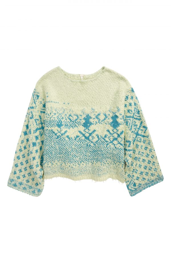 Women's Free People Midnight Beach Rib Off-The-Shoulder Sweater, Size X-Small - Green