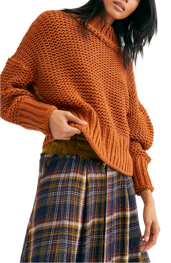 Women's Free People My Only Sunshine Sweater, Size X-Large - Metallic