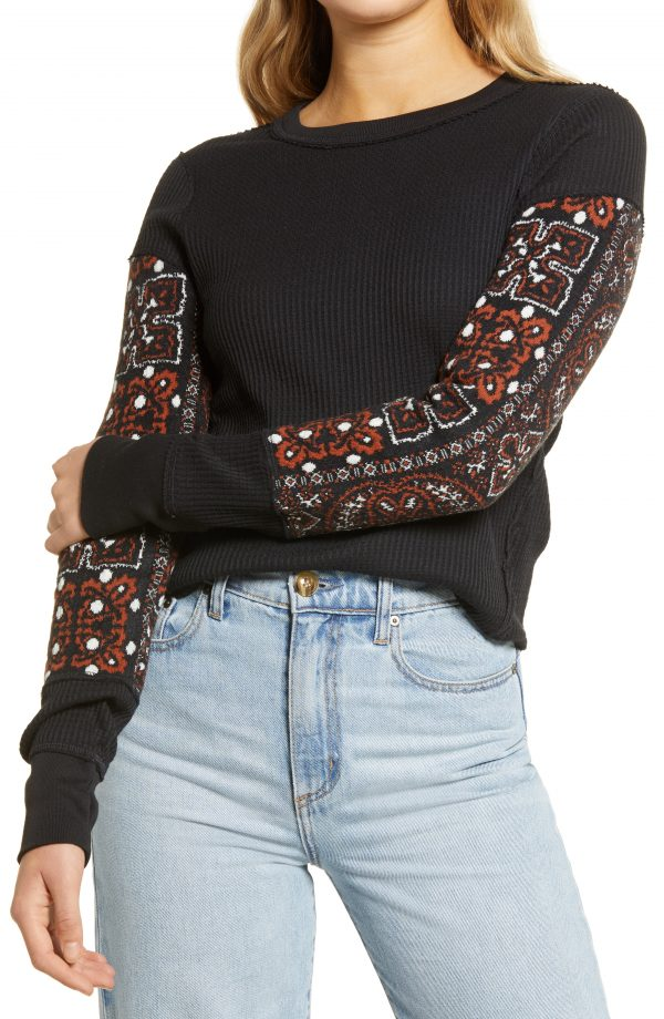 Women's Free People Nikki Layering Top, Size X-Small - Black