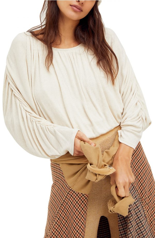 Women's Free People You'Re The One Pleated Top, Size X-Small - Ivory