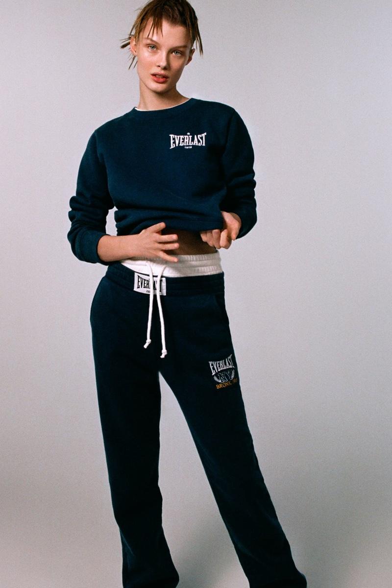 Kris Grikaite Sports Zara x Everlast Collection