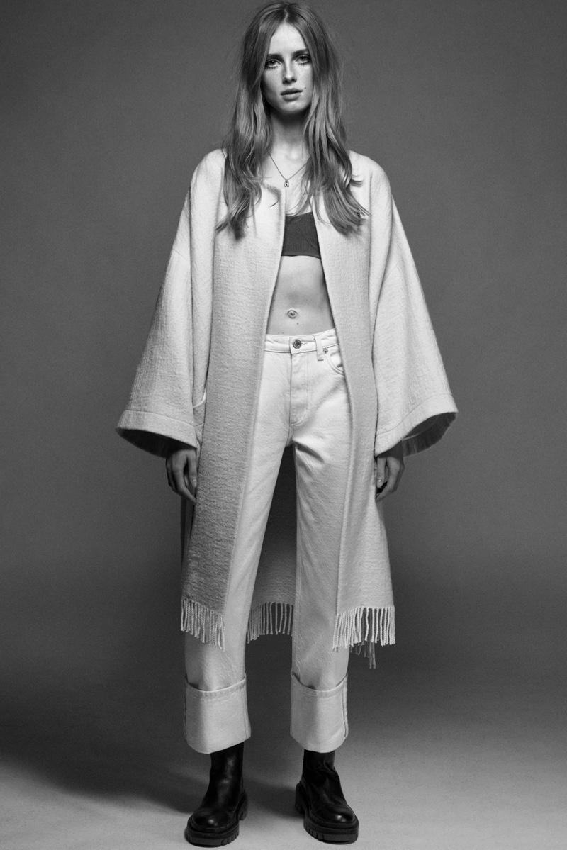 Rianne van Rompaey Tries On Zara's Spring Styles
