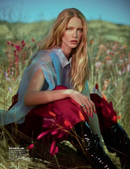 Abby Champion Poses in Chic Outdoor Styles for Vogue Thailand