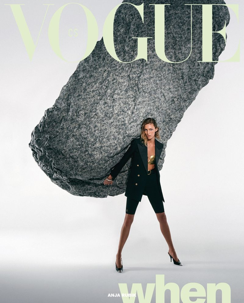 Anja Rubik Takes a Stand for the Pages of Vogue Czechoslovakia
