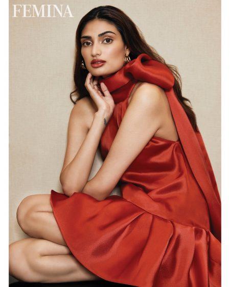 Athiya Shetty Poses in Rosy Styles for Femina India