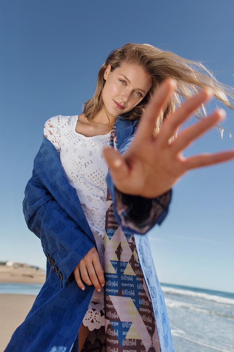 Aveen Lane Models Beach Fashion for Marie Claire Argentina