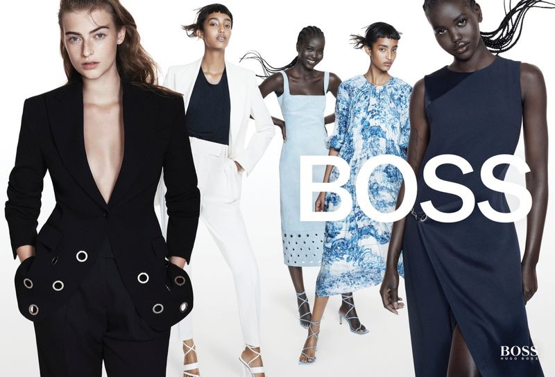 An image from BOSS' spring 2021 advertising campaign.