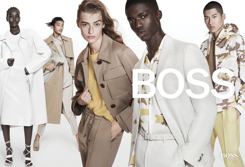 A neutral color palette stands out in BOSS spring-summer 2021 campaign.