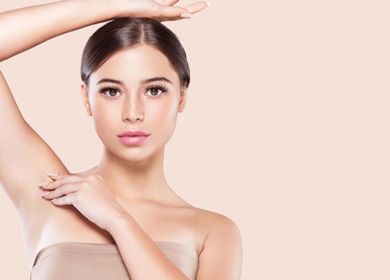 Beauty Model Smooth Skin Raised Armpit