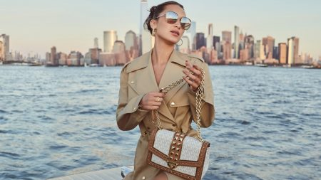 Bella Hadid stars in MICHAEL Michael Kors spring-summer 2021 campaign.