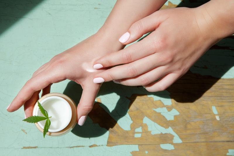 CBD Lotion Woman's Hands