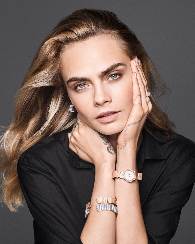 Ready for her closeup, Cara Delevingne fronts Dior Gem Dior campaign.