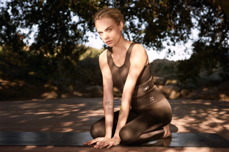 Cara Delevingne co-creates PUMA's Exhale collection of yoga wear.