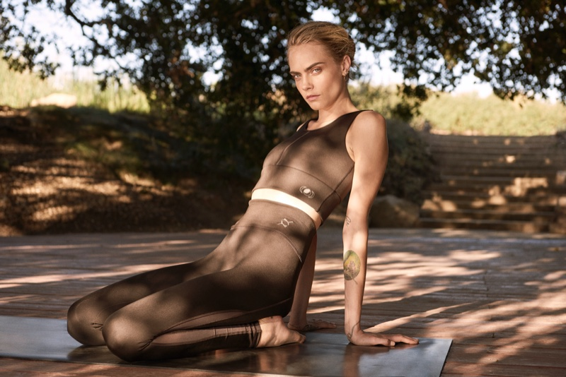 Model Cara Delevingne poses in PUMA Exhale collection.
