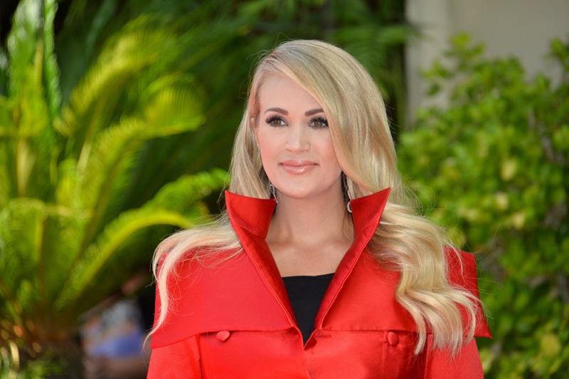 Carrie Underwood Singer Red Jacket