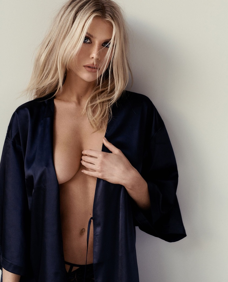 Flaunting some skin, Charlotte McKinney fronts La Senza campaign.