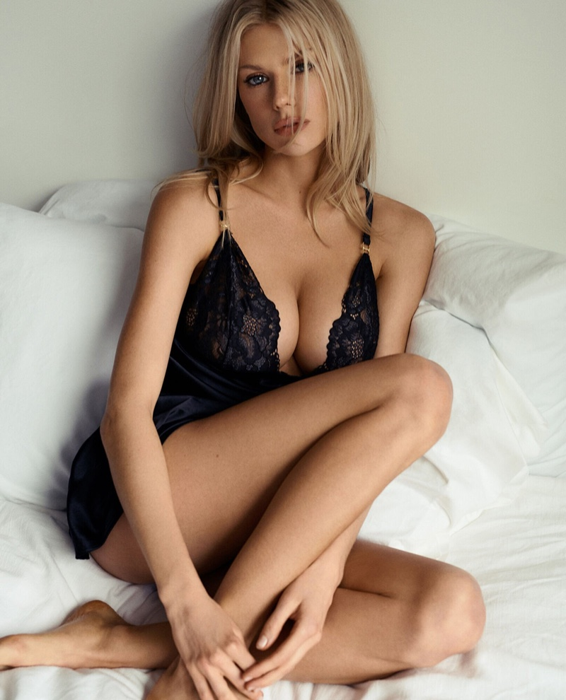 Charlotte McKinney stars in La Senza lingerie collaboration campaign.
