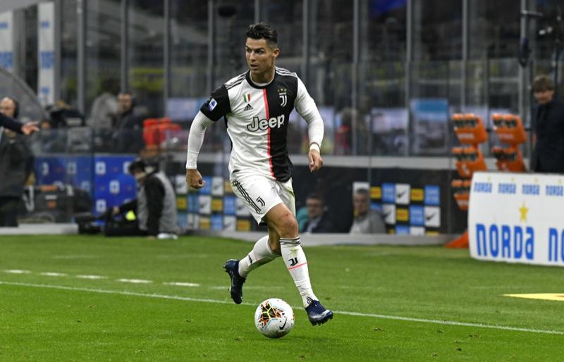 Cristiano Ronaldo Running Football