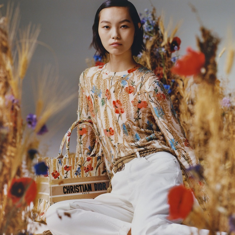Maggie Cheng poses in Dior Lunar New Year 2021 collection.