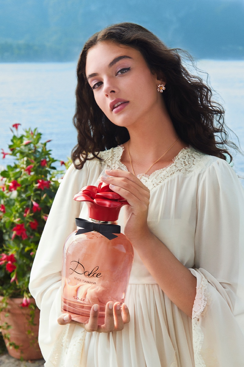 ON SET: Deva Cassel for Dolce & Gabbana's latest fragrance, Dolce Rose.