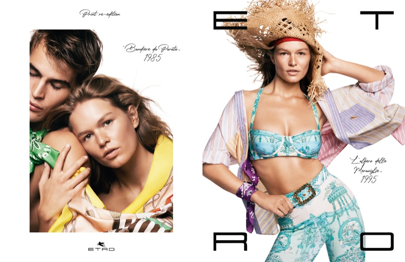 An image from Etro's spring 2021 advertising campaign.