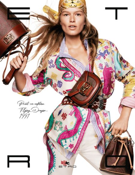 Anna Ewers stars in Etro spring-summer 2021 campaign.