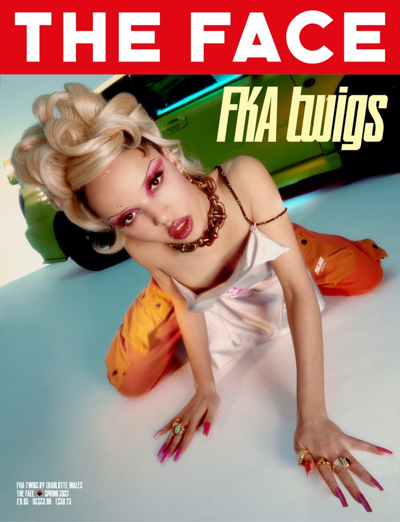 FKA Twigs on The Face #7 Spring 2021 Cover