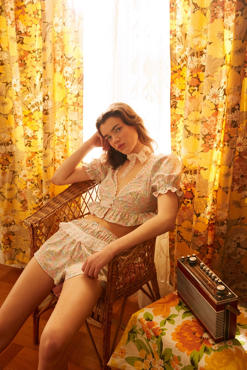 An image from For Love & Lemons x Victoria's Secret's spring 2021 campaign.